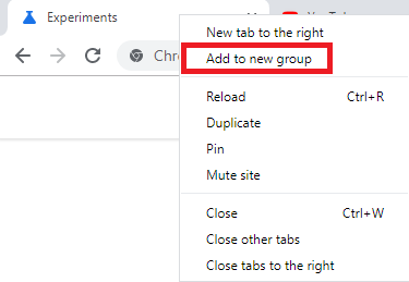 Google Tab Group