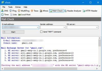 eToolz innehåller alla nätverksverktyg du vill ha Windows 10 3