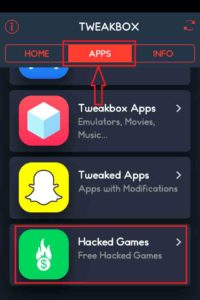 Navigera till TweakBox-hackade-Games-avsnitt