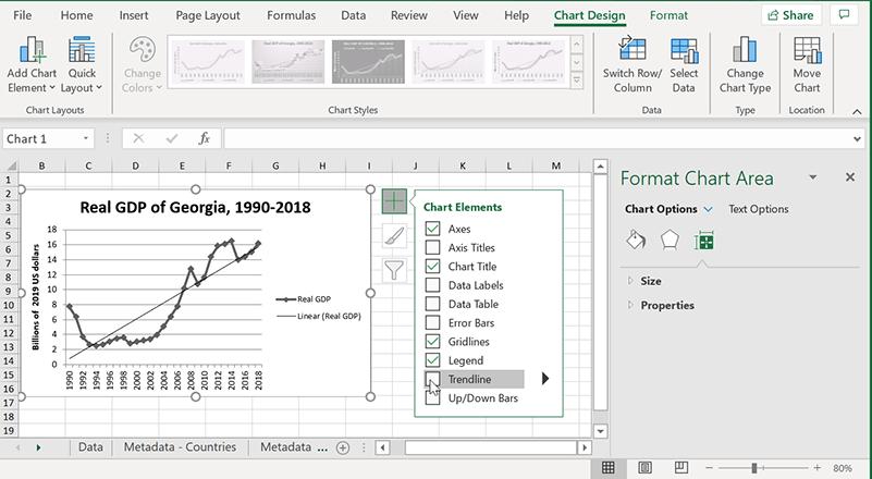 Excel Trendlines Ny version Lägg till