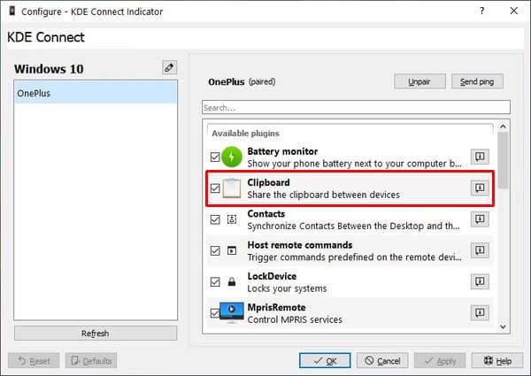 Universal Urklipp Android och Windows 10