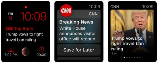 CNN Apple Watch Nyhetsapp