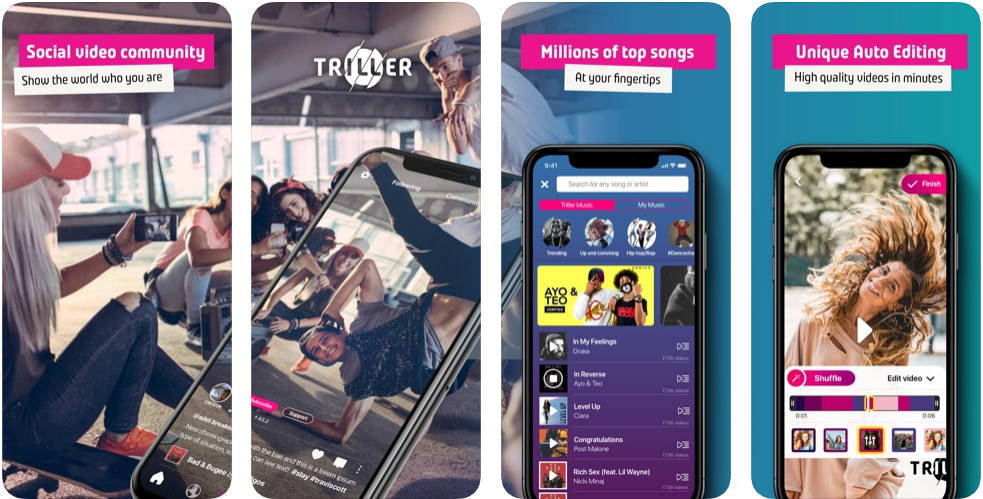 Triller - bästa app som Tik Tok