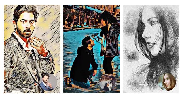 Tecknade bilder - Tecknad fotoredigerare
