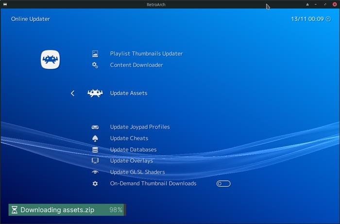 Kodi With Iagl Updating Retroarch