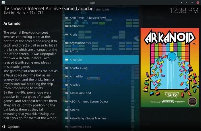 Kodi With Iagl Game Selection