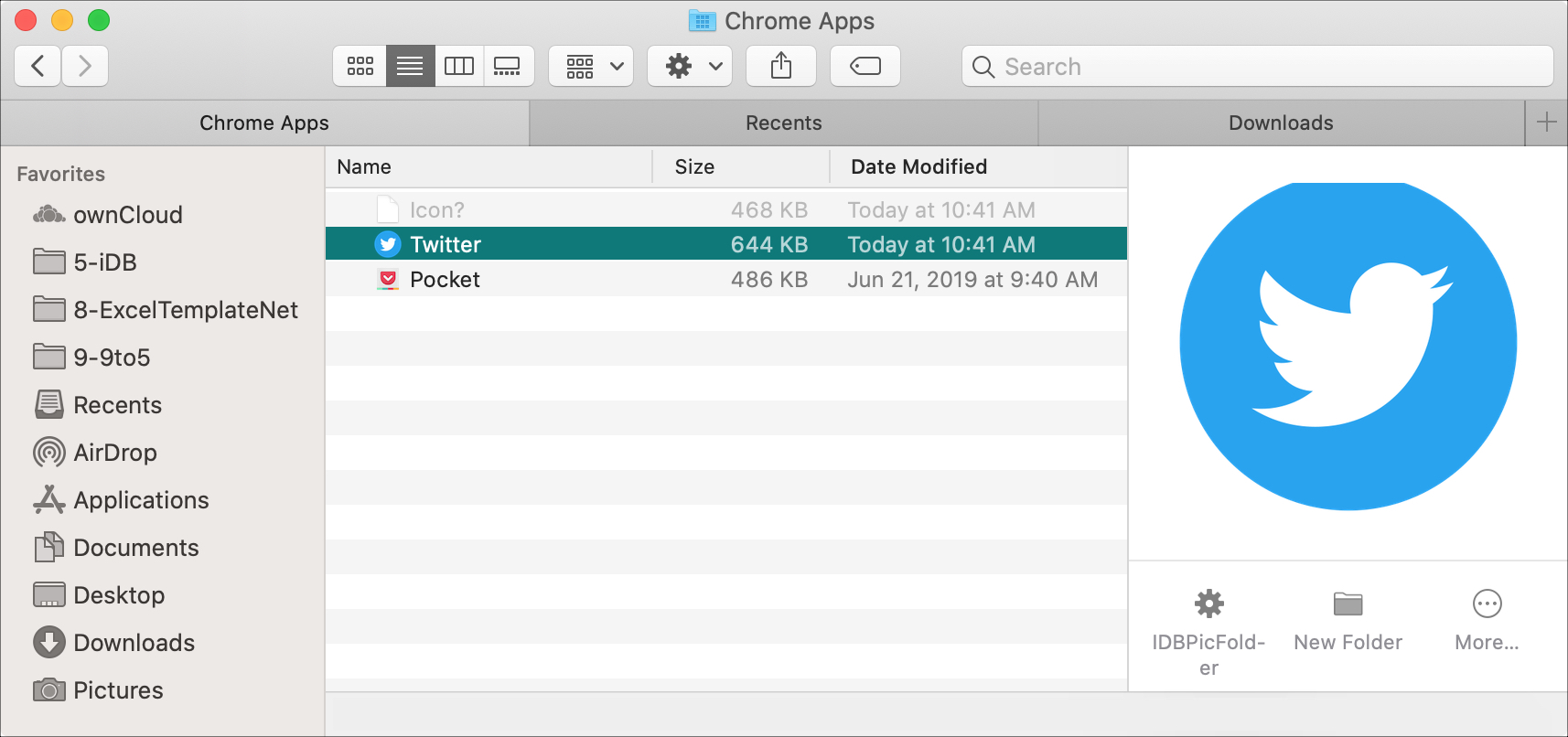 Twitter  Chrome Apps Finder-mapp Mac