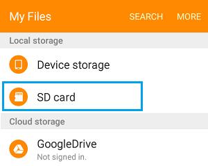 Bộ nhớ cục bộ trên điện thoại Android