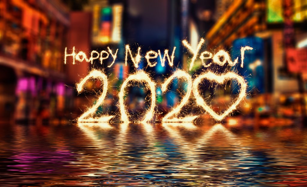 4K Gott nytt år 2020 bakgrundsbilder
