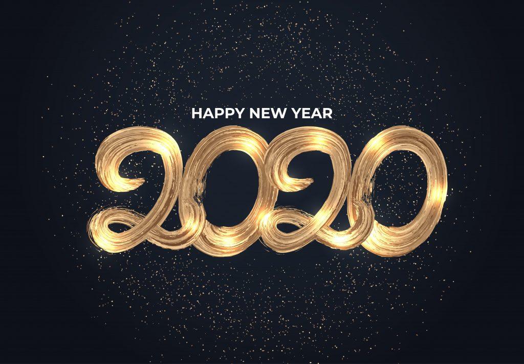 gott nytt år 2020 4k bilder