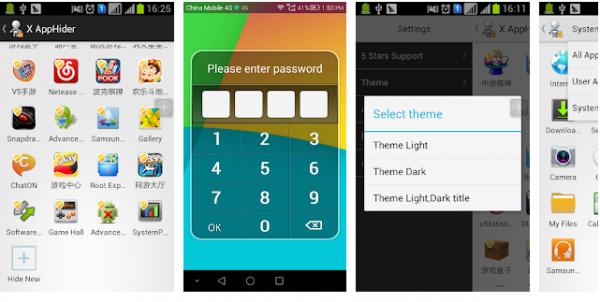 Ansökan Ansökan gömmer sig för Android