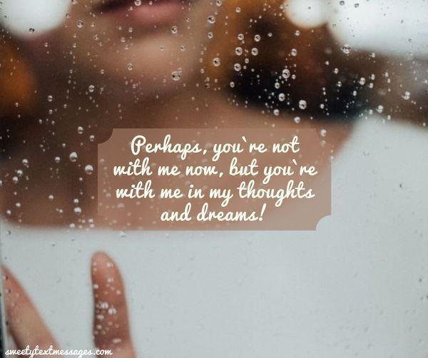 Du kanske inte är med mig nu, men du är med mig i mina tankar och drömmar!