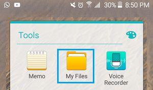 Ứng dụng tập tin của tôi trên điện thoại Android
