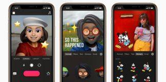 Apple Clips app with Animoji and Memoji