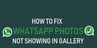Fixa WhatsApp-foton som inte visas i galleriet