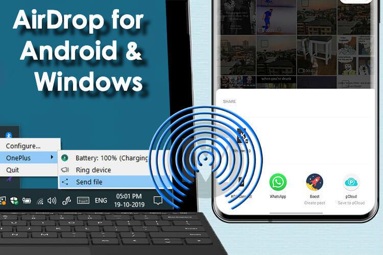 Skaffa Airdrop för Android och Windows