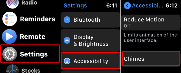 Apple Watch  Inställning för tillgänglighet