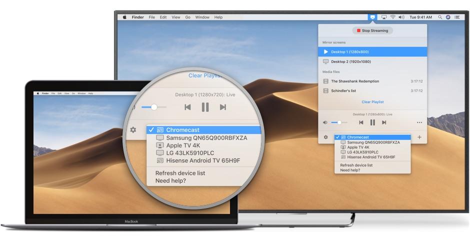 JustStream låter dig strömma lokala videor och spegla din Mac till alla dina enheter 1