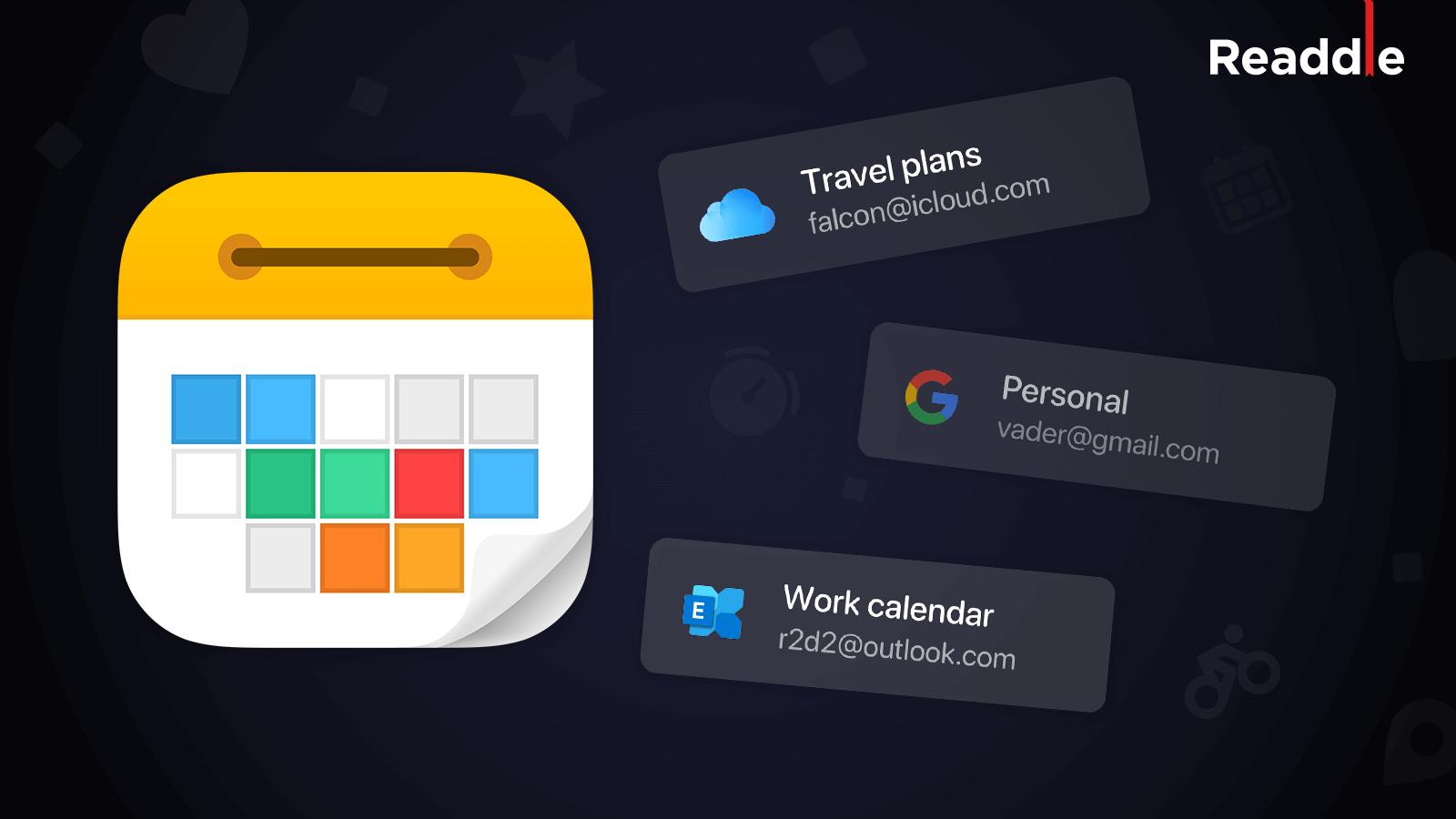Readdle's Calendars-app får inbyggd Outlook Exchange-integration och flera konton 1
