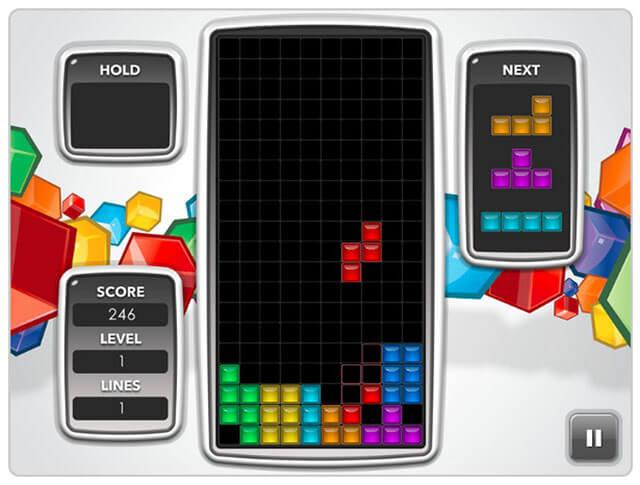 Tetrisfria webbläsarspel