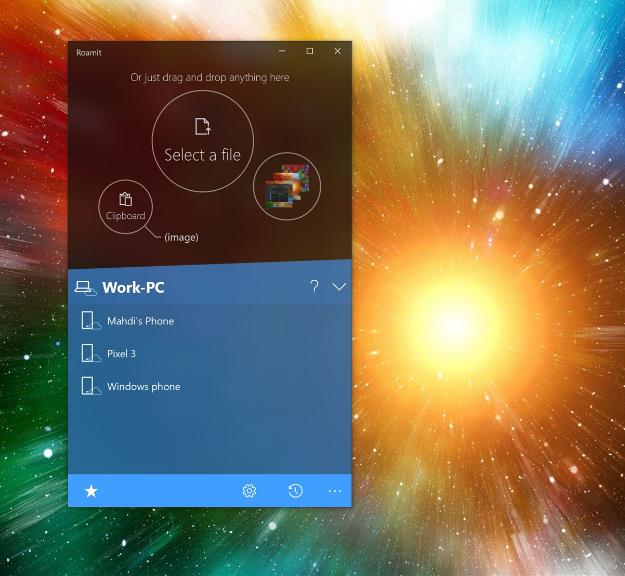 synkroniserar Windows 10 och Android med Roamit-tjänst 2