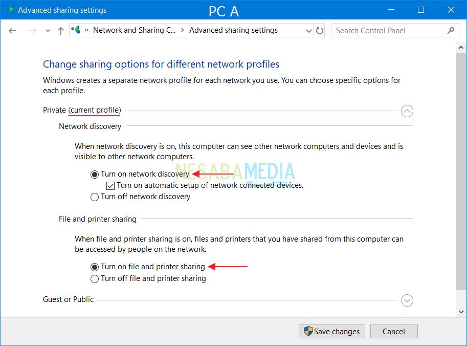 Så här sätter du på LAN Windows för datadelning