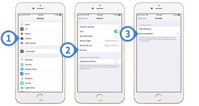 Hur man sparar bilder som JPEG istället för HEIC på iPhone 1