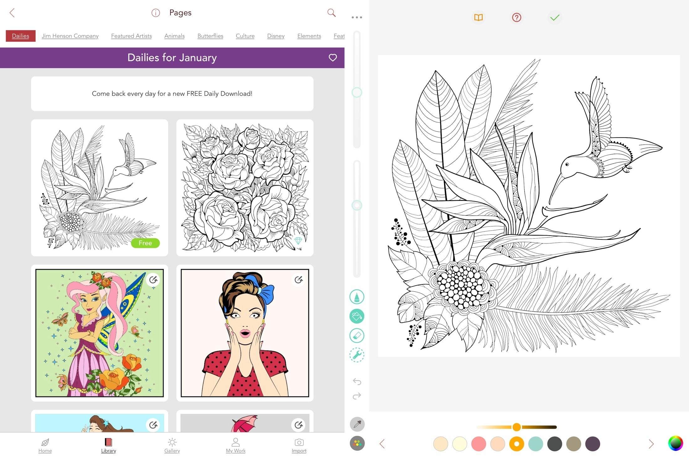 Pigment på iPad