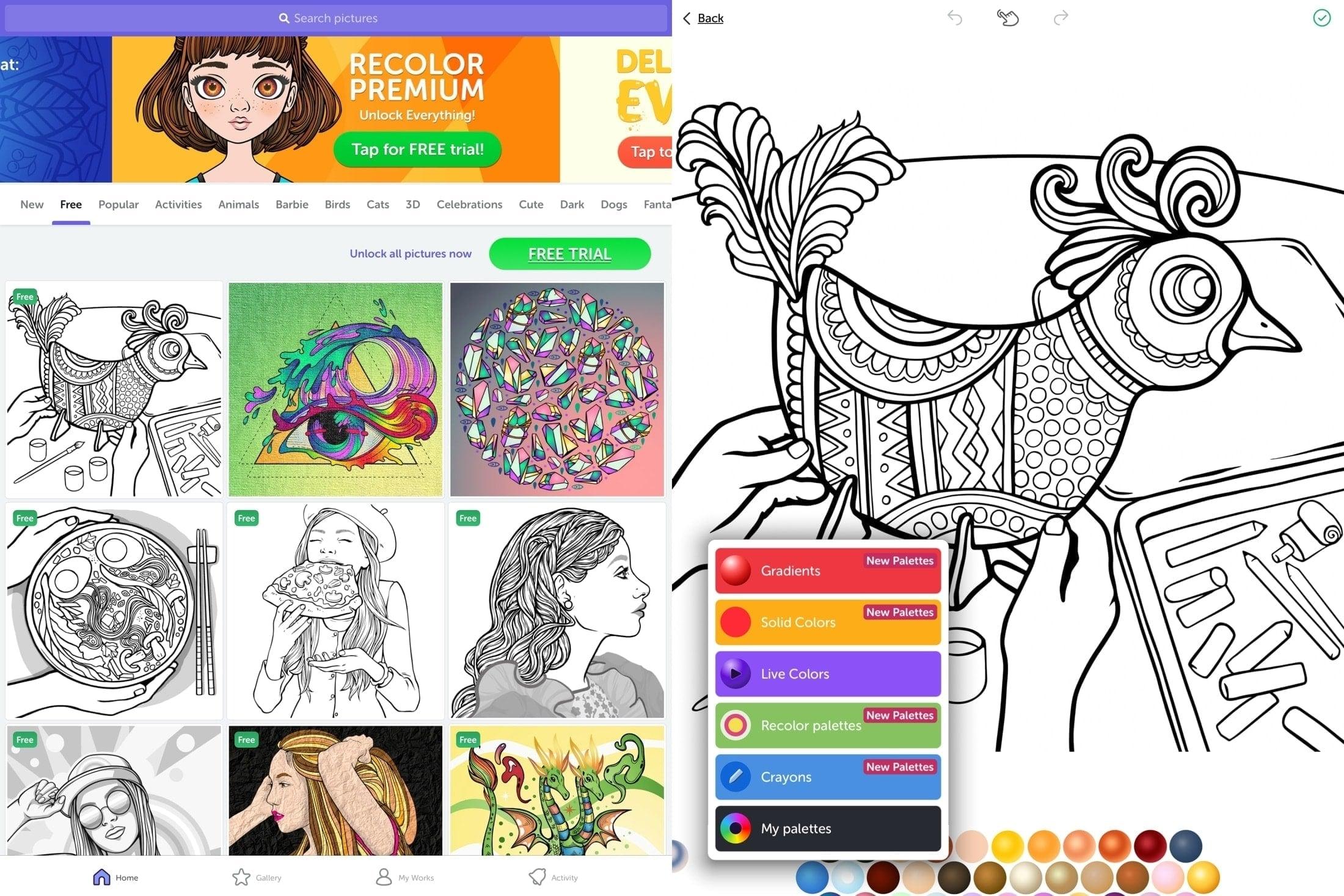 Recolor på iPad