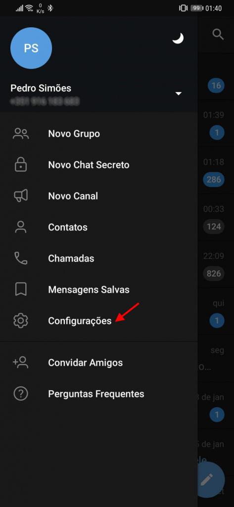 Telegram användarnamn ändring