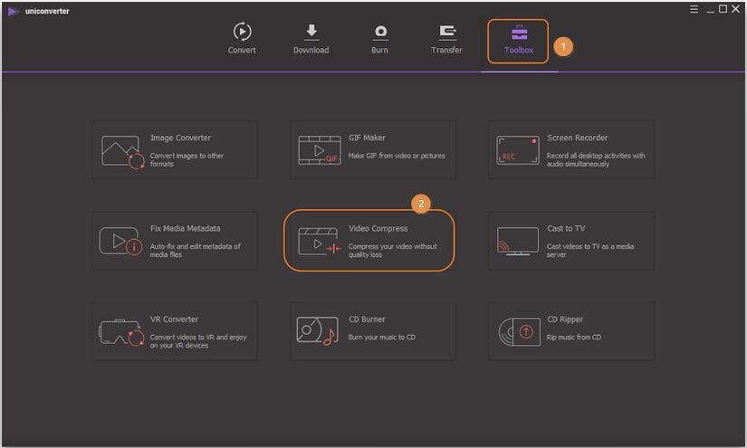 En steg-för-steg-guide för att komprimera MP4 med Uniconverter