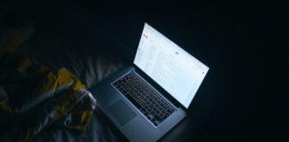 MacBook Checking Gmail