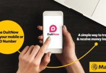 Inget mer noterar kontonummer; Överför pengar snabbare och säkrare med DuitNow via Maybank2u