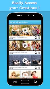 Music Video Editor Lägg till ljudskärmbild