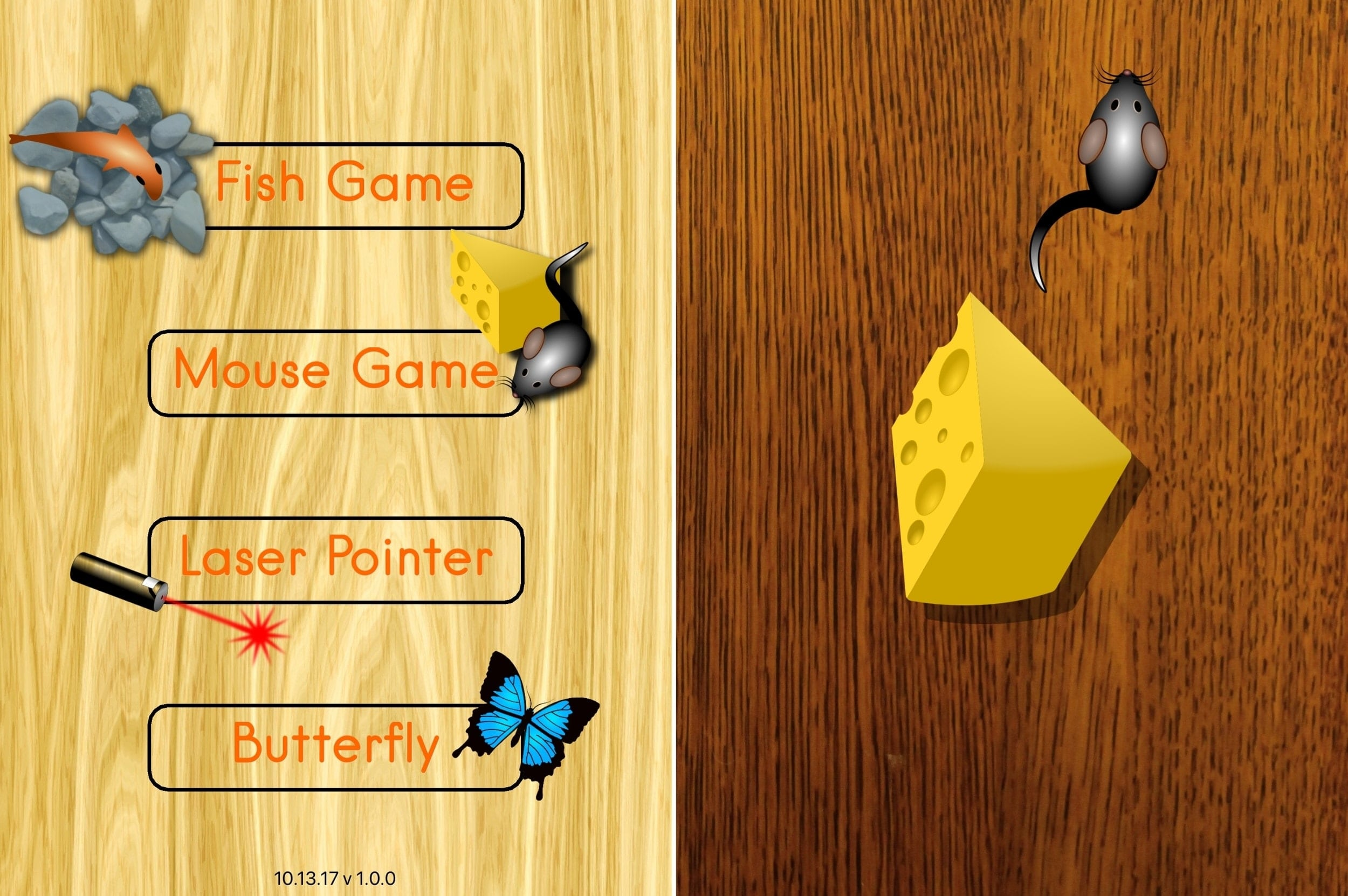 CatzPlay-spel för katter iPad