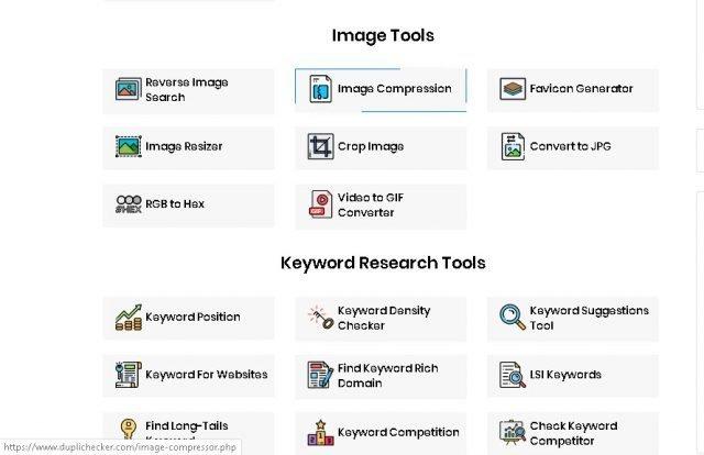 Dupli Checker, mer än 100 gratis verktyg för att arbeta på internet 3