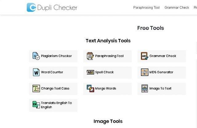Dupli Checker, mer än 100 gratis verktyg för att arbeta på internet 1