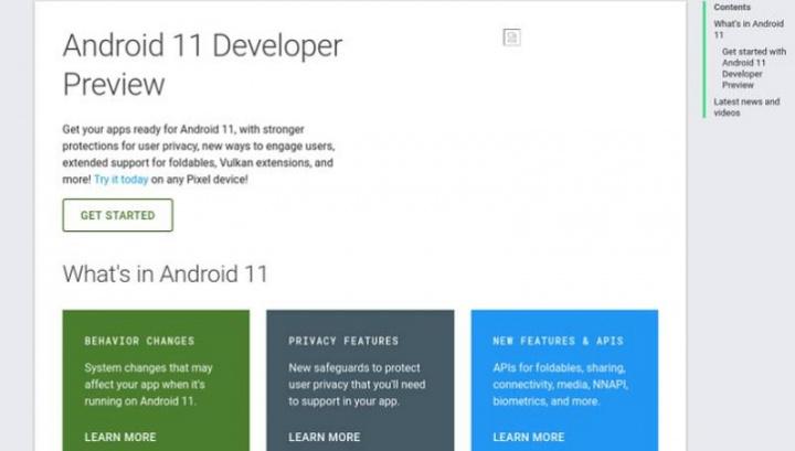 Android 11 avslöjas oavsiktligt på Internet av Google själv 2