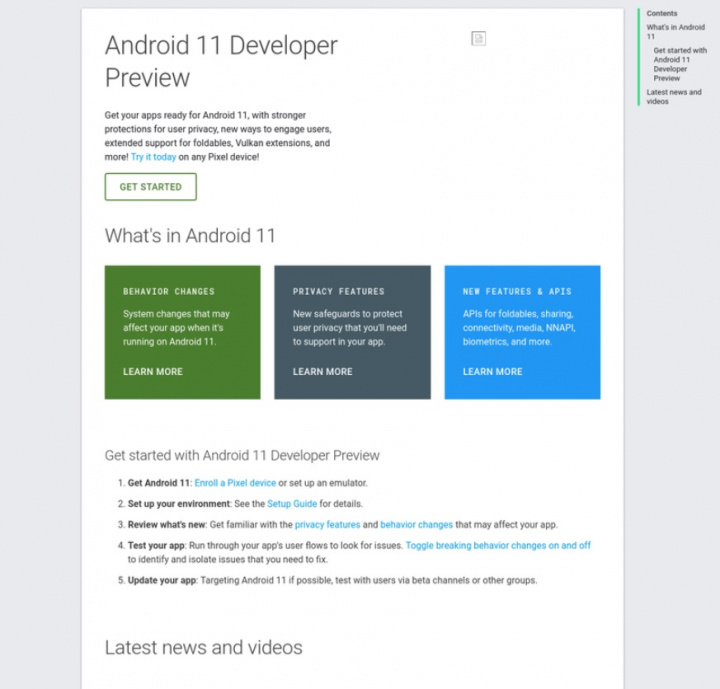 Android 11 avslöjas oavsiktligt på Internet av Google själv 3