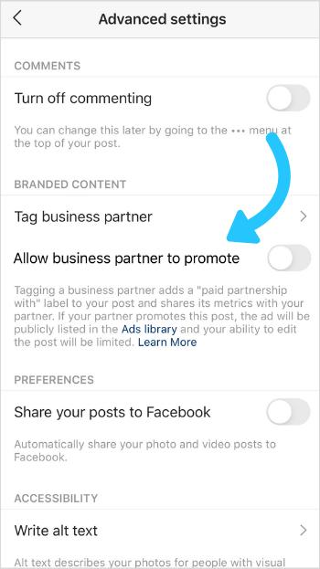 Hur man använder Instagram Verktyg för märkesinnehåll för ditt företag 7