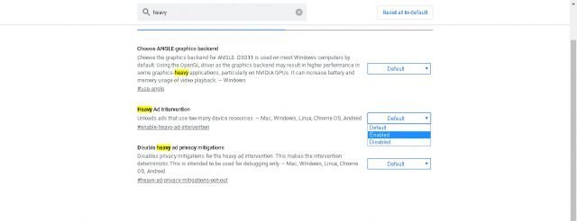 Så du kan aktivera Chrome-alternativet som blockerar tunga annonser 3