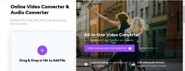 Konvertera och komprimera multimediafiler på samma webbplats med Online Uniconverter 1