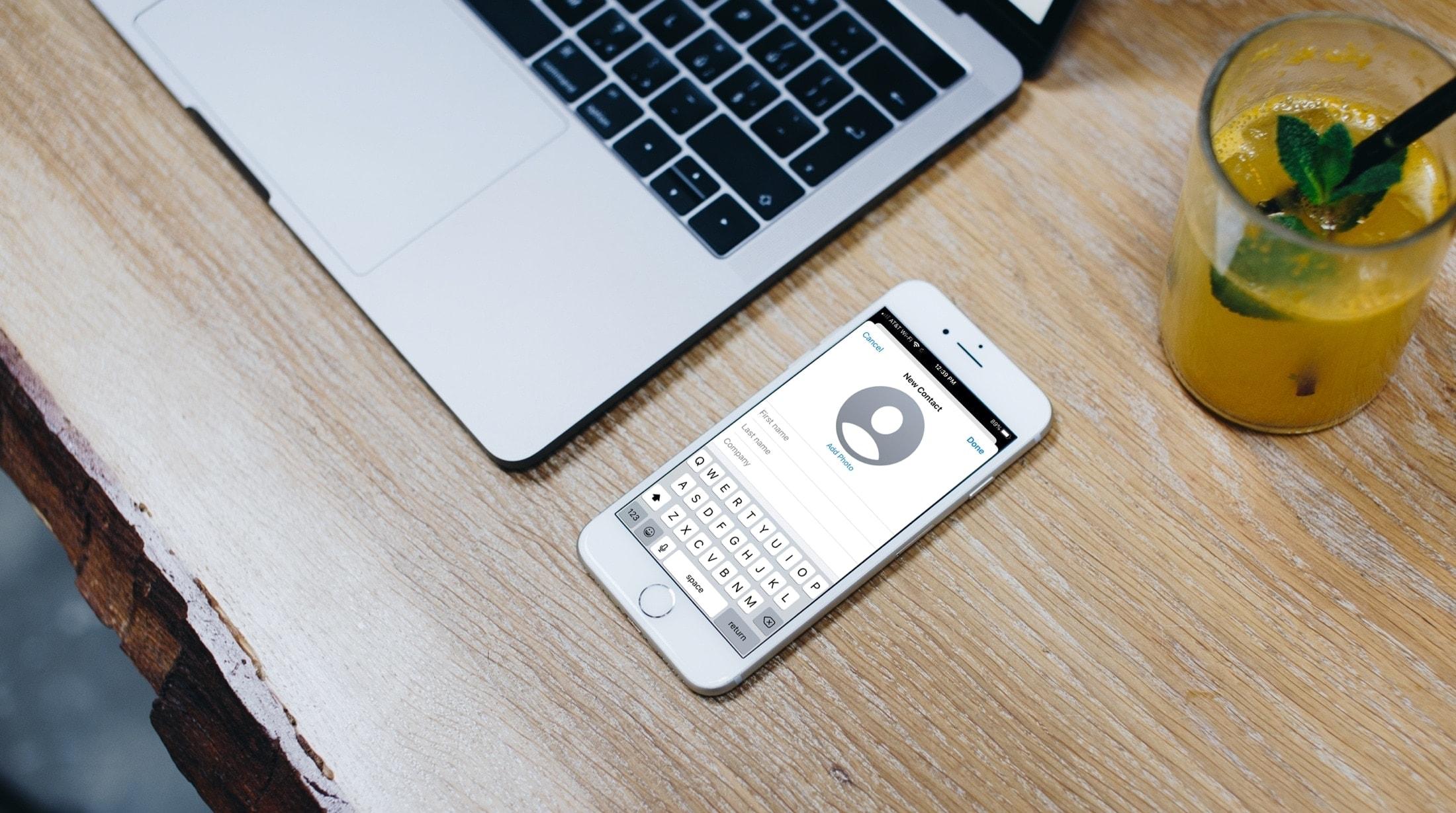 Kontakter app iPhone Ny kontakt