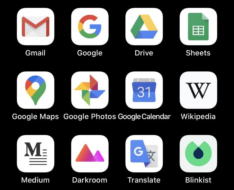 Bör iOS automatiskt aktivera vita eller mörka appikoner när mörkläget är på? 1