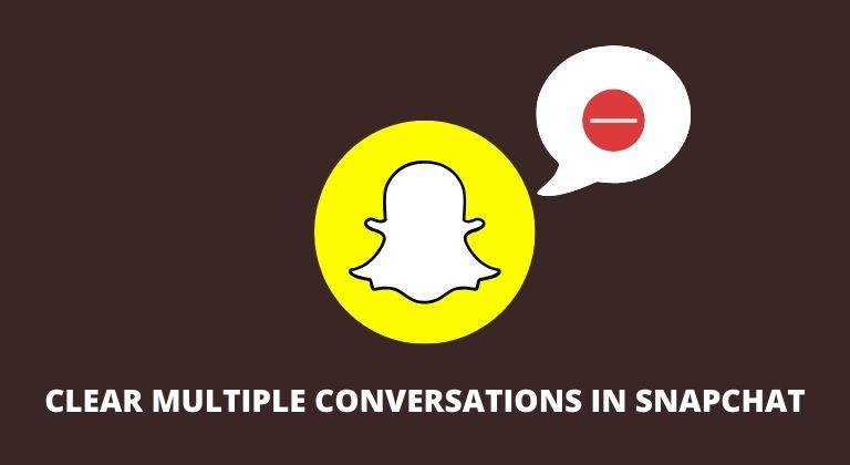 Hur du rensar snabbt konversationer i Snapchat-flöde 1