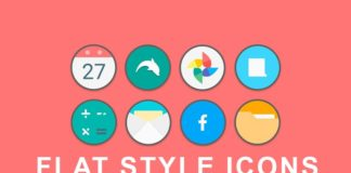 Flat style icons cover