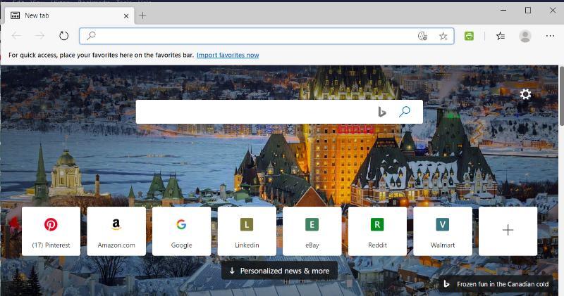 Edge mot Chrome Edge-användargränssnitt