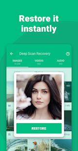 Obnovte zmazané snímky snímky obrazovky Dumpster