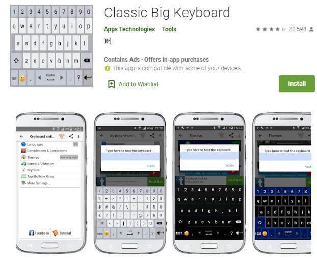 Bästa appar som gör tangentbordet större på Android 3