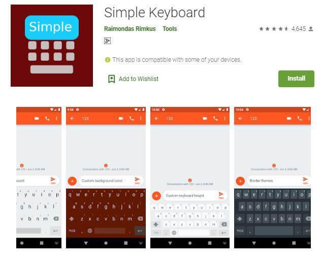 Bästa appar som gör tangentbordet större på Android 5